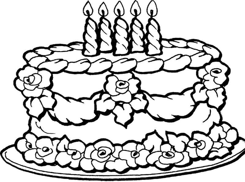 Birthday Cake Coloring Pages PDF To Print - Free Coloring Sheets Happy  Birthday Coloring Pages, Cupcake Coloring Pages, Birthday Coloring Pages
