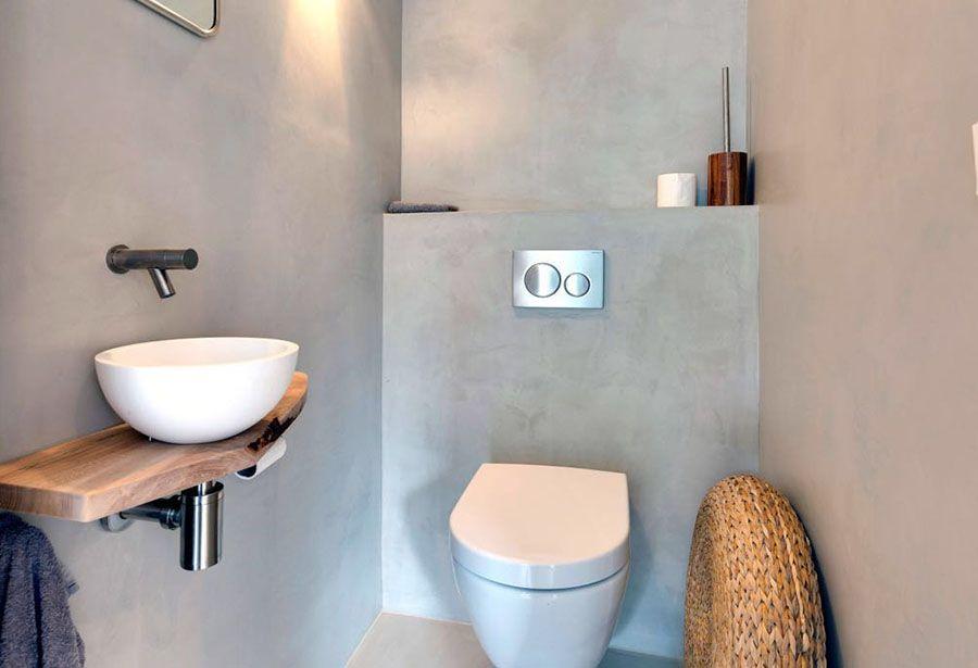 Toilet in béton ciré pro in de kleur zijde project van puik
