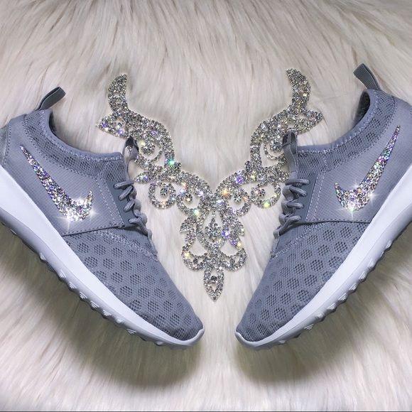 Swarovski Nike Juvenate Women's Shoes in Wolf Grey Authentic Women's Grey Nike  Juvenate Shoes. Style