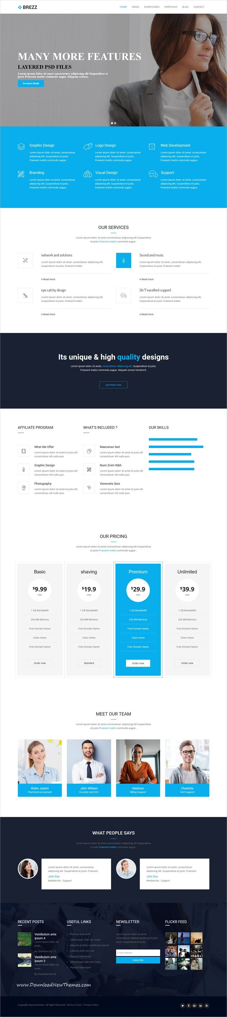 Brezz is clean and modern design responsive multipurpose drupal
