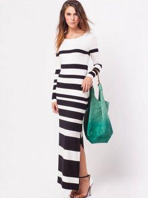 523ca99e1a5 SELECTED FEMME Column Stripe Maxi Dress purchase from koovs