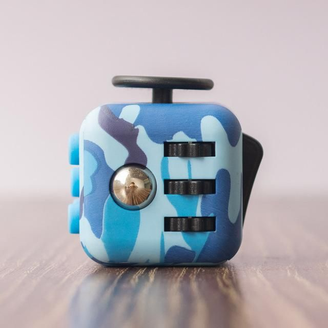 Brand New Multifunctional Fidget Cube Military Blue Black By Podoqo