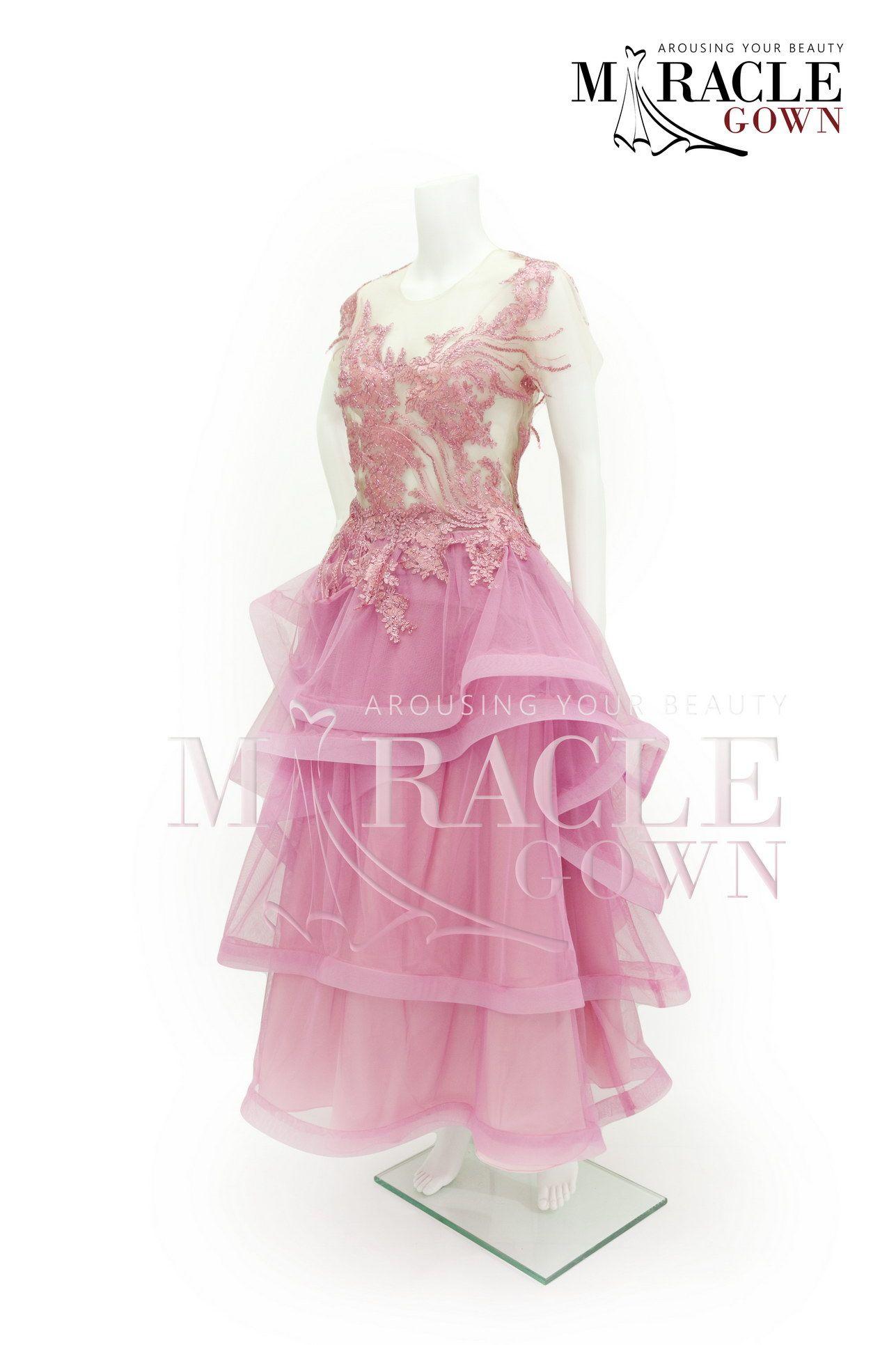 Miracle gown blushing pink brocade layered dress facebook