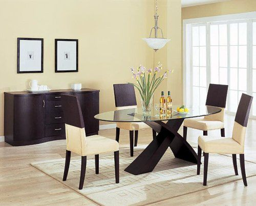 Mesa de comedor de estilo nórdico fabricada en madera natural ...