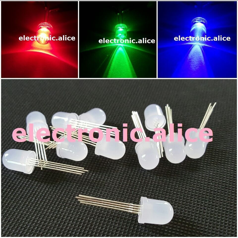 3 17 20pcs 10mm 4pin Rgb Diffused Lens Led Lamp Light Milk White Common Anode Ebay Home Garden Lamp Light Led Lamp Diffuser
