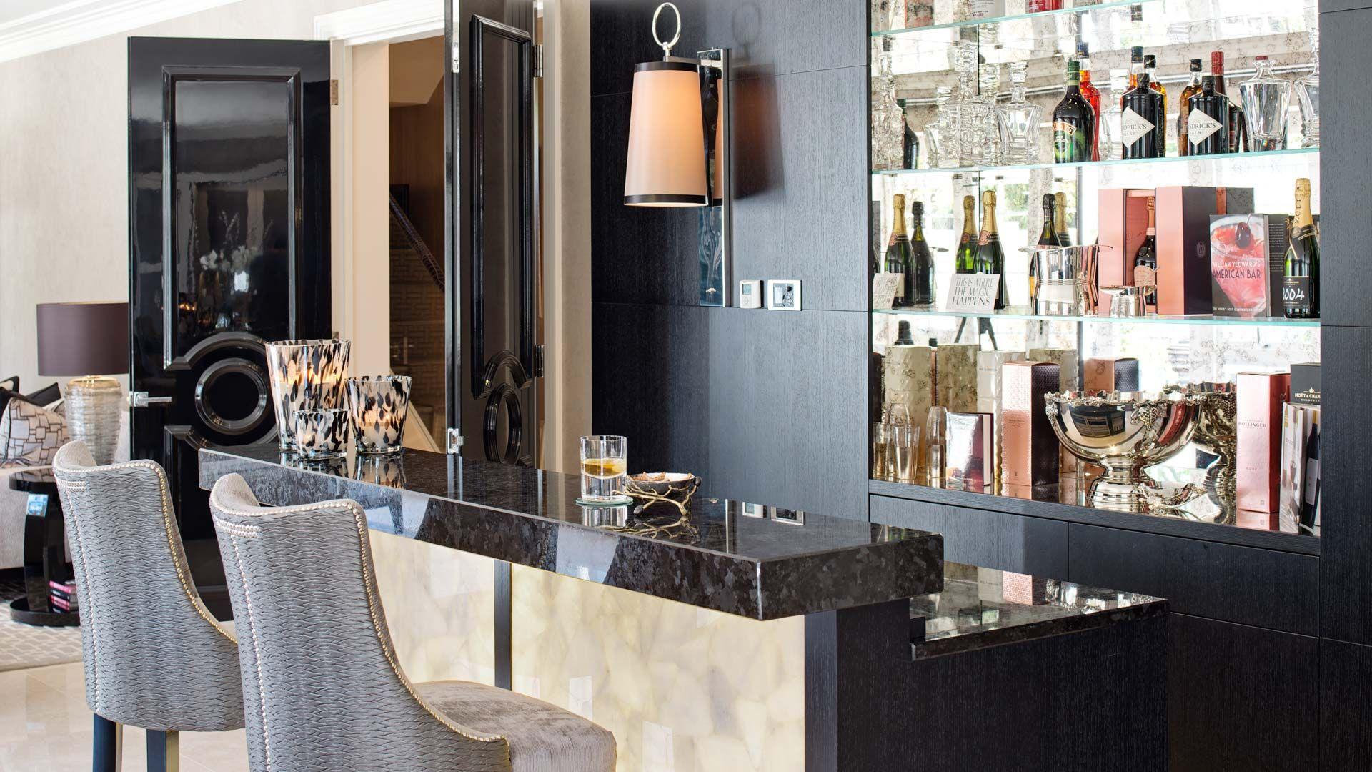 Great bar idea Private Estate Surrey UK Project Interior