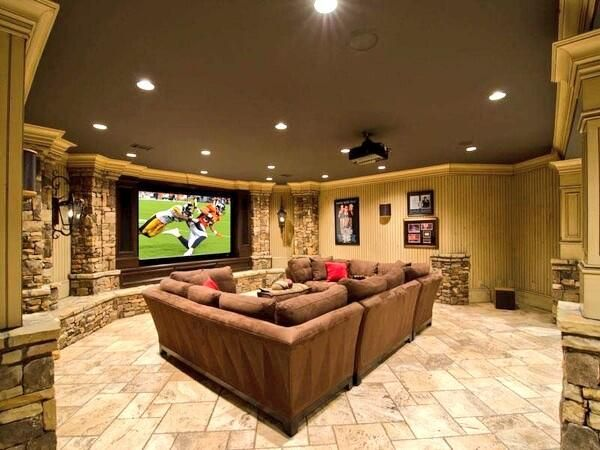 The man cave on men cave and custom design for Man cave living room ideas