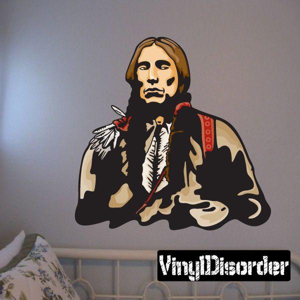 Native American Wall Decal - Vinyl Sticker - Car Sticker - Die Cut Sticker - CD007