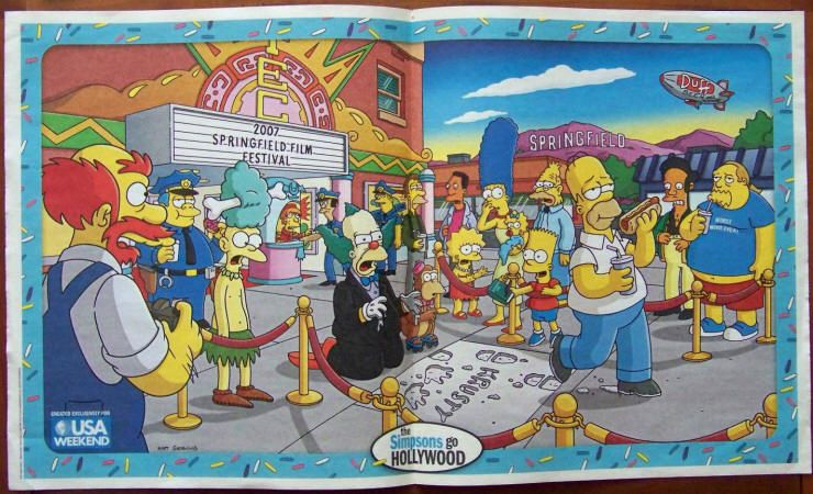 The Simpsons Movie 2007 20th Century Fox Usa Weekend Magazine Centerfold Poster July 20 22 2007 Vf Ha The Simpsons Movie Simpsons Cartoon The Simpsons