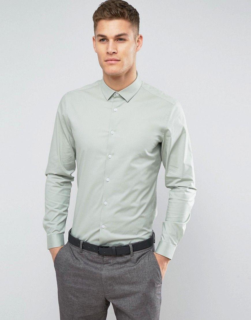 sage color dress shirt