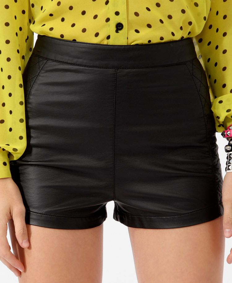 Quilted Panel Hot Pants | FOREVER21 - 2017306045