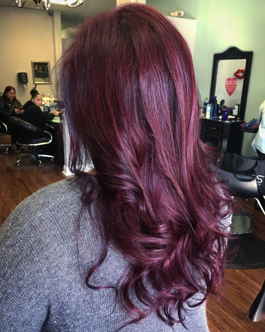 50 Vibrant Red Hair Color Ideas — Violet, Deep Dark, Light Burgundy and More