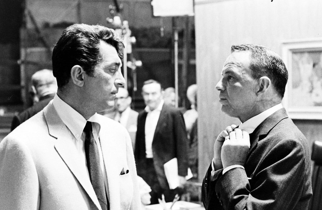 Frank Sinatra and Dean Martin on the set of Marriage on ...