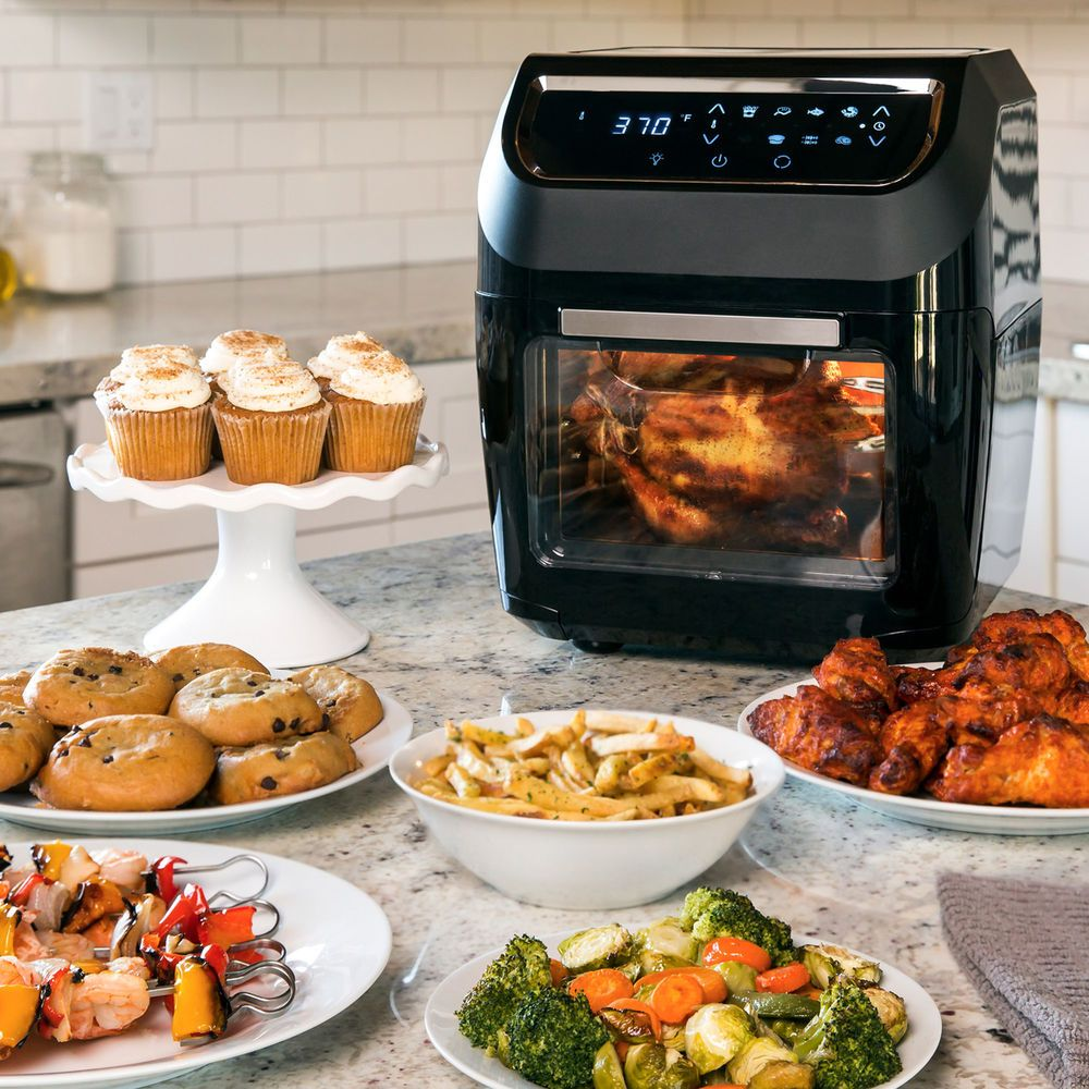8in1 Electric XL Air Fryer Oven, Rotisserie, Dehydrator
