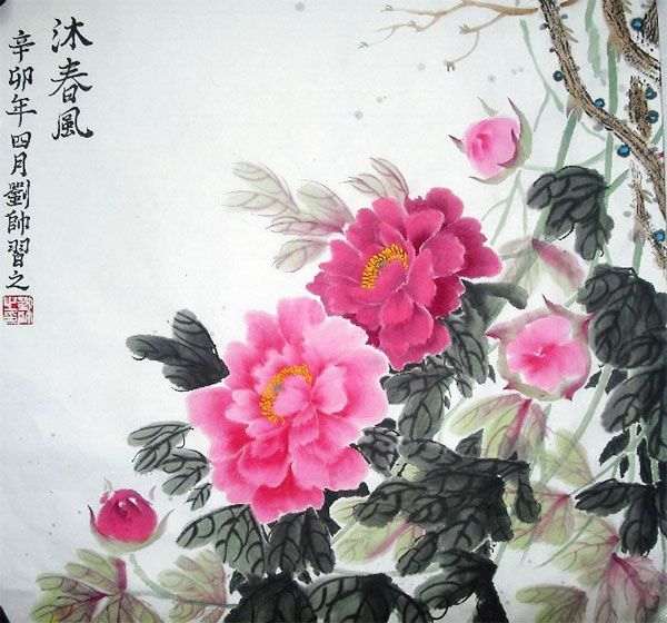 chinese peony art - Google Search