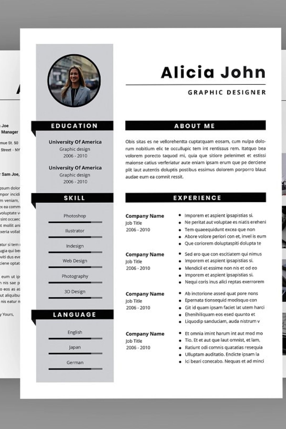 Potentiality Resume Designer. This layout is suitable for