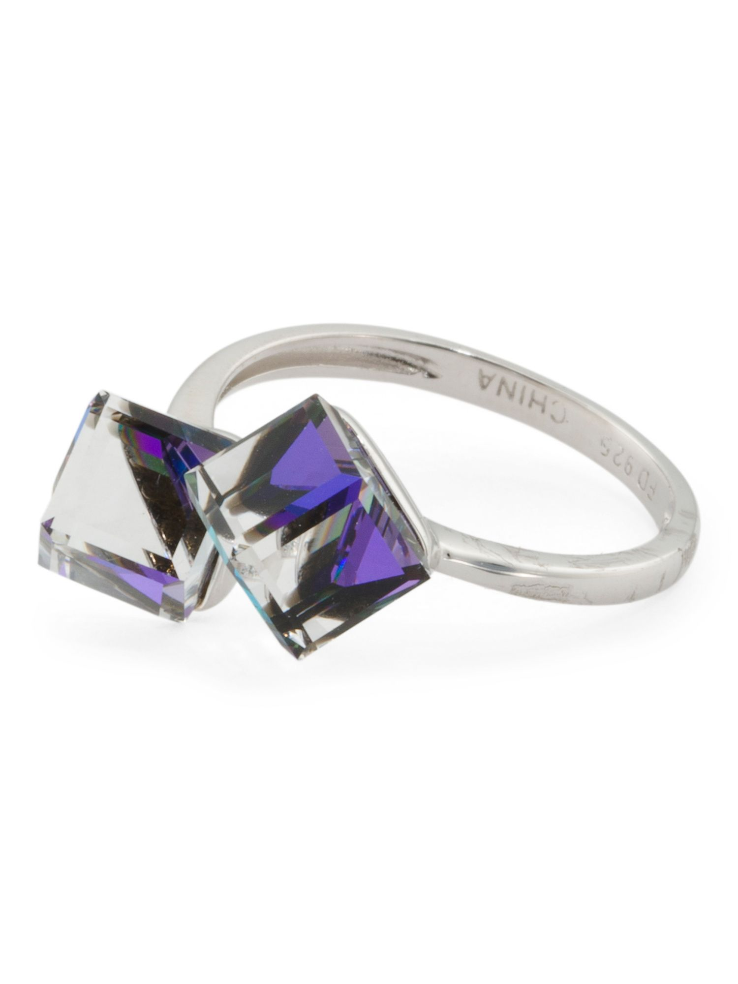 75b1ba418 Sterling Silver Swarovski Crystal Cube Ring | Products | Swarovski ...