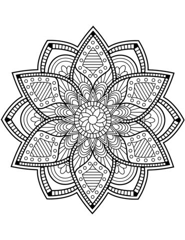 Mandala Fleur Coloriage Coloriage Fleur Mandala Coloriage Mandala