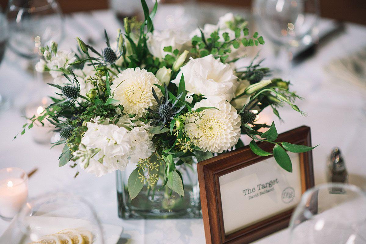 Nashville Rehearsal Dinner Decor Details Green White Floral