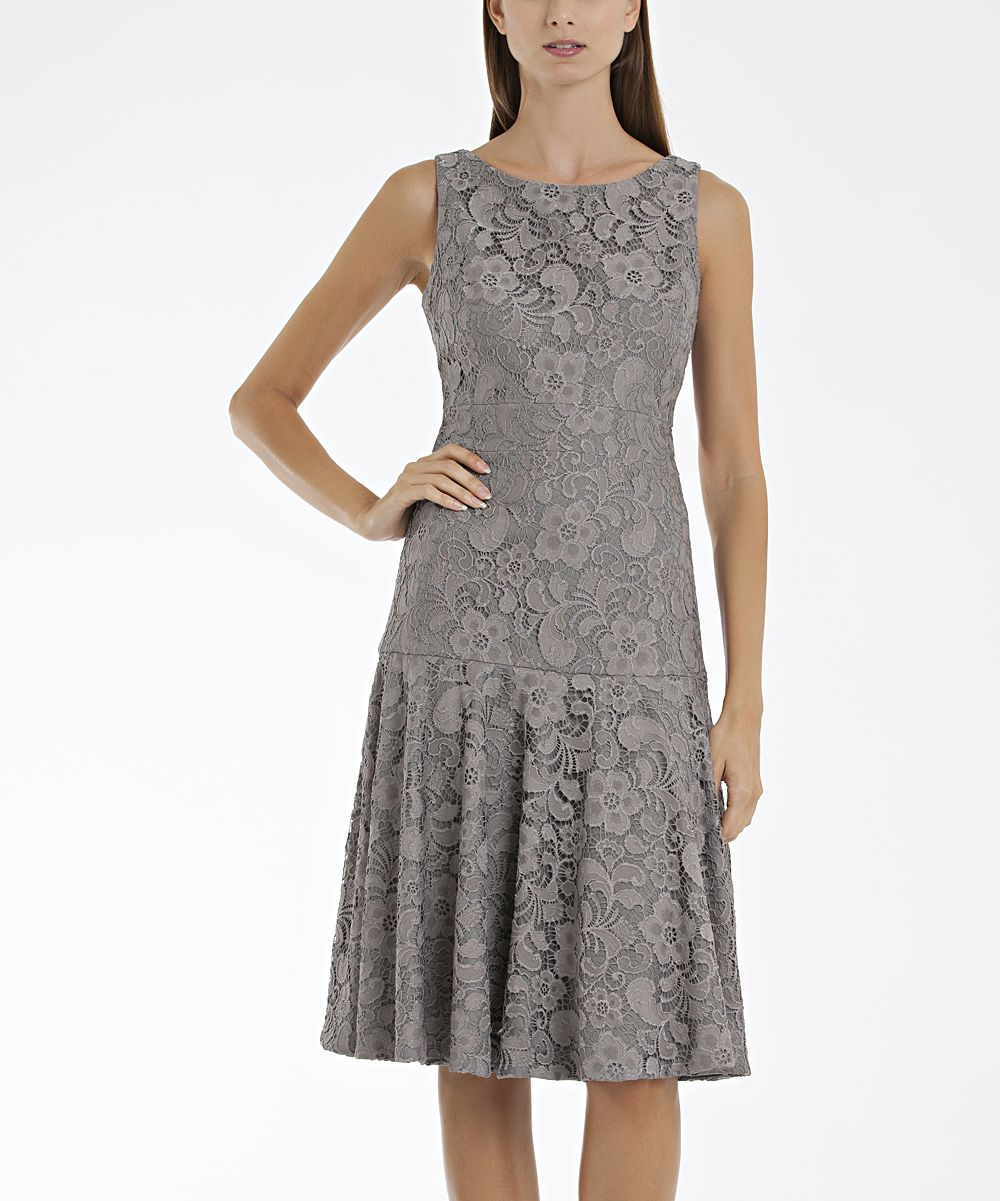 Pewter Lace Dresses