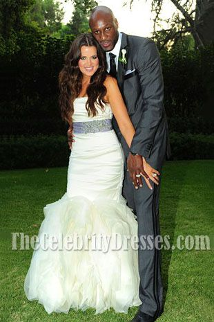 Khloe Kardashian Wedding Dress Sash