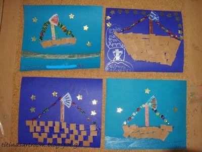Christmas Boat Greece.Titina S Art Room Christmas Boats Greek Christmas