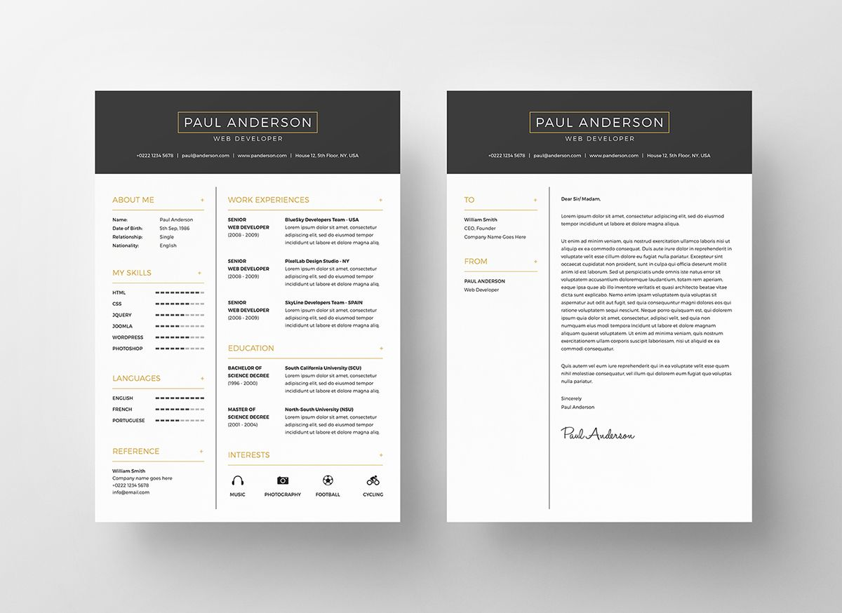 Free Resume Template for everyone. Download and customize as you ...