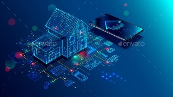 IOT Concept Smart Home Connection and Control Envato