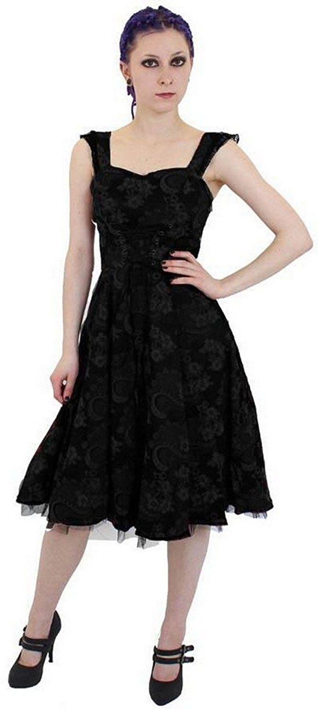 Altissimo Women\'s Gothic Steampunk Rockabilly Floral Brocade Dress ...