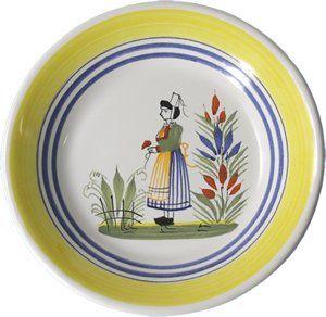 Quimper Plates Quimper Henriot Miniature Plate Woman Quimper Plates Quimperplates Quimper Blue Dinner Plates Plates