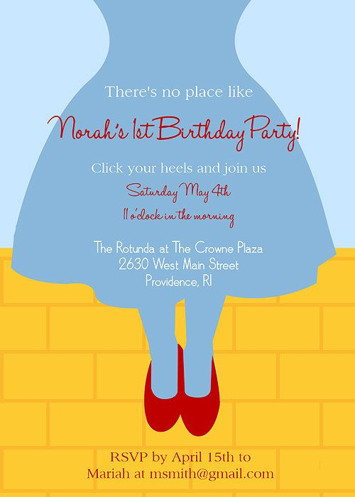 Wizard of Oz Birthday Invitation Birthdays Etsy and Birthday