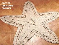 \ PINK ROSE CROCHET /: Tapete Estrela do Mar - Crochê