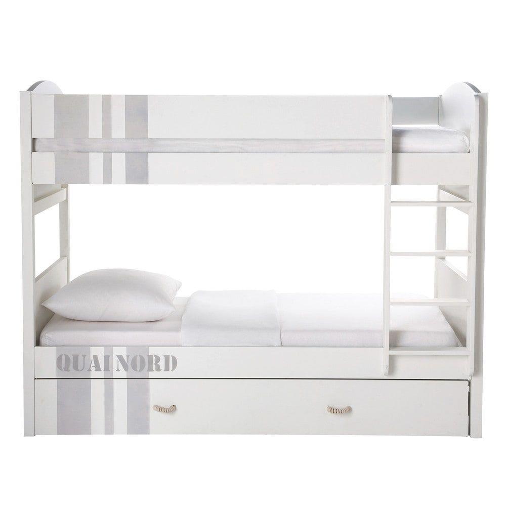 Maison Du Monde Letti A Castello.Litera 90 190 Blanca Quai Nord In 2019 Products White Bunk Beds