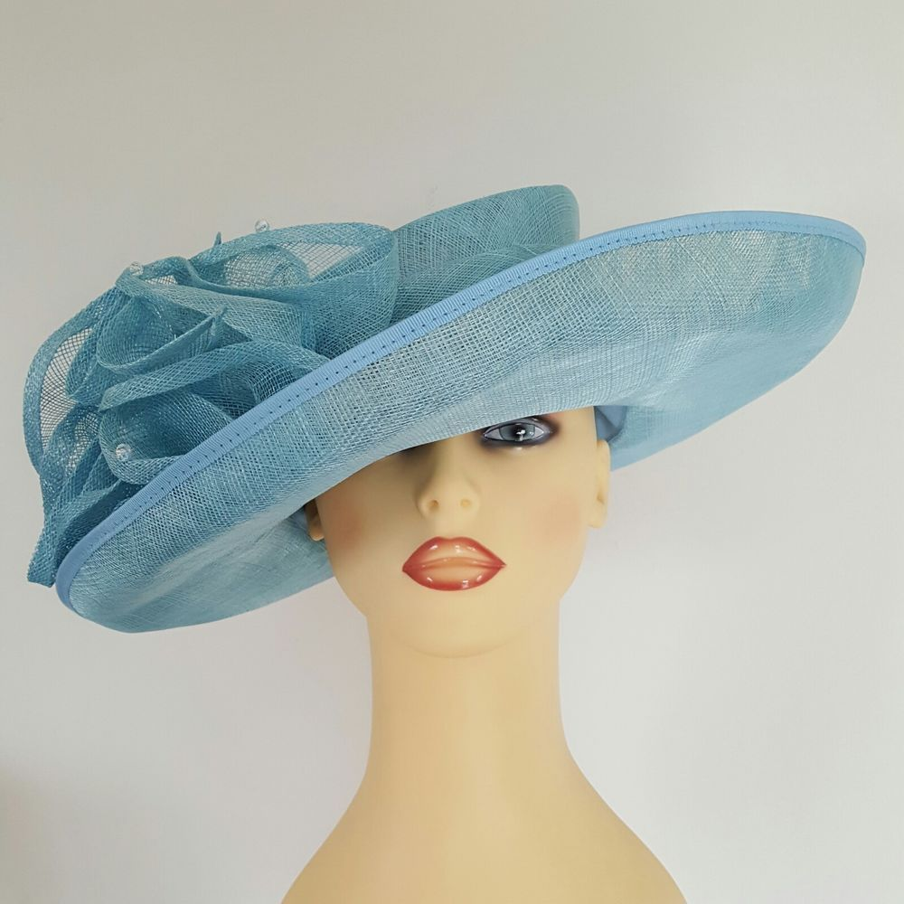 Ladies Wedding Hat Races Mother Bride Turquoise Beaded By Jacques ...