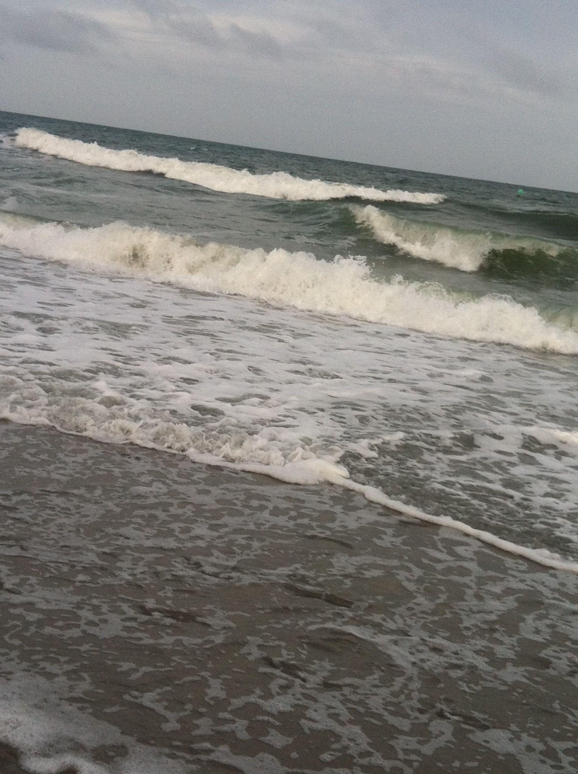 Pacific Ocean In South Myrtle Beach Carolina