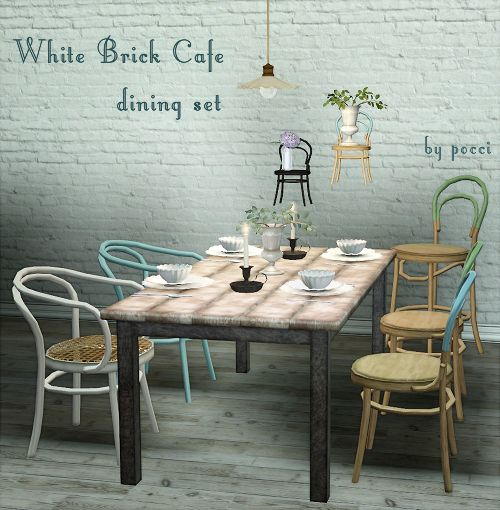 White Brick Cafe   Dining Set By Pocci. The Set Is Awesome But Look At