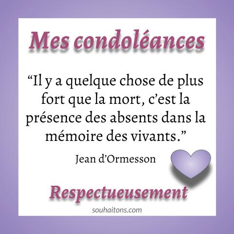 Belle Citation Deuil Pour Beau Message De Condoleances Originales Message De Condoleances Citation Deuil Texte Condoleances