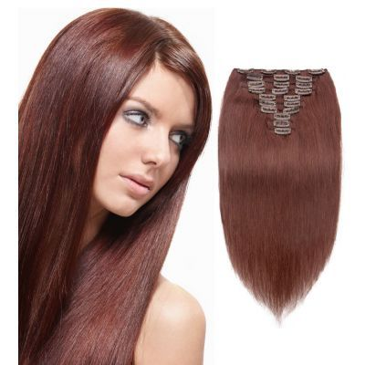 10pcs straight clip in remy hair extensions 33 rich copper red 10pcs straight clip in remy hair extensions 33 rich copper red pmusecretfo Choice Image