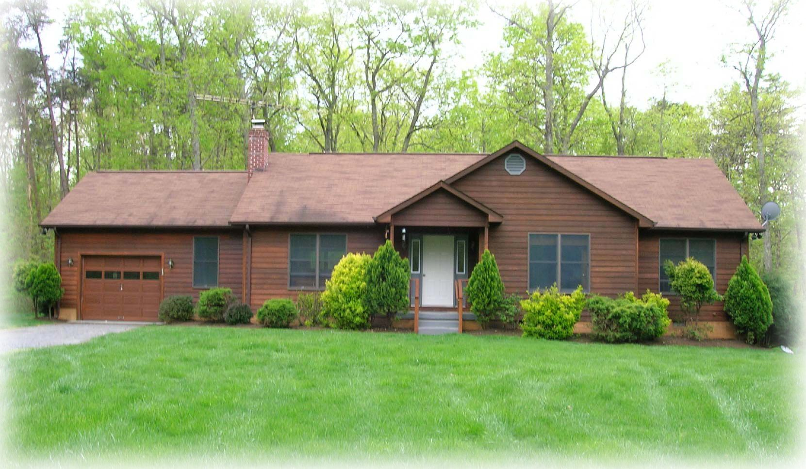This is a ranch home because it is rectangular shaped with for Small brick ranch homes