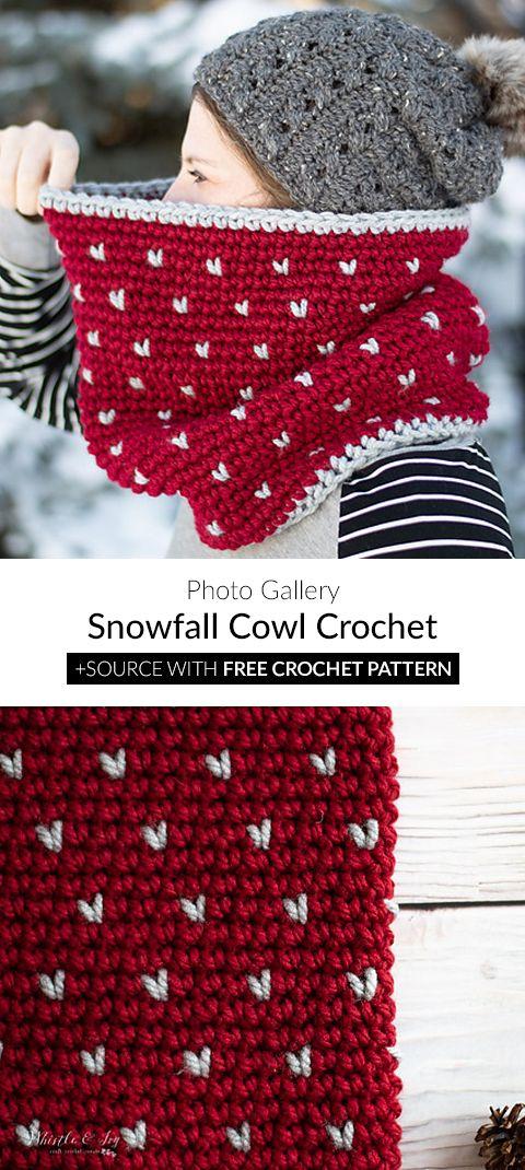 Snowfall Cowl Crochet #crochetscarves