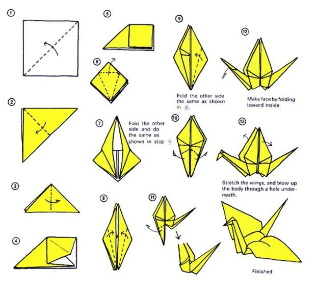 How to Make a 3D origami swan from 484 paper triangles « Origami ... | 583x620