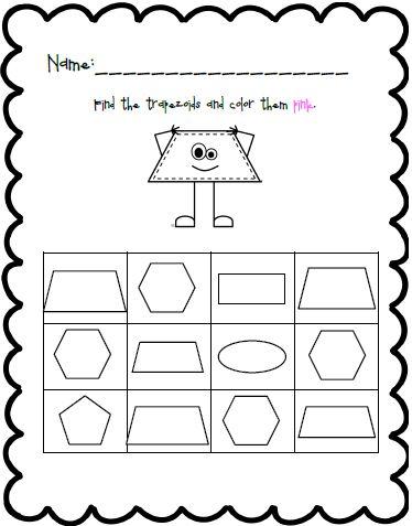 Worksheet Shapes Preschool Preschool Forms Learning Shapes