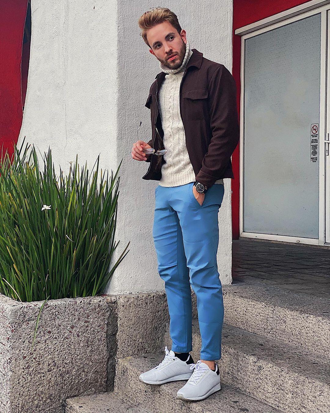 11 9 Mil Me Gusta 54 Comentarios Jose Reynel Jrstylee En Instagram Estos Pantalones Chinos De Esntls Ya Son Mis Mega Favo Fashion Bomber Jacket Style [ 1349 x 1080 Pixel ]