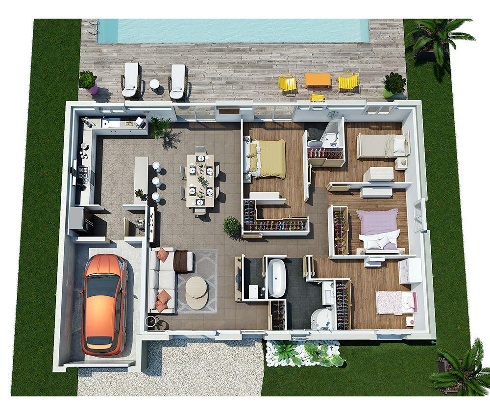 Couleurs villa vous propose la villa galane moderne for Les plans des villas modernes
