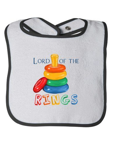 LORD OF THE [STACKING] RINGS Baby Feeding Bib / Cute, Funny Infant Humor Ann Arbor T-shirt Co. http://www.amazon.com/dp/B00AH45GNU/ref=cm_sw_r_pi_dp_qdP6tb0F2SRNV