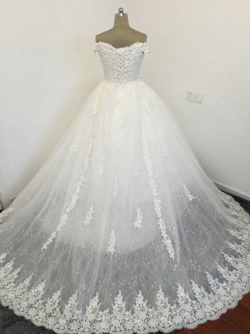 Cheap wedding dresses plus size  Vestidos De Novia Custom made Off the shoulder Ball gown wedding