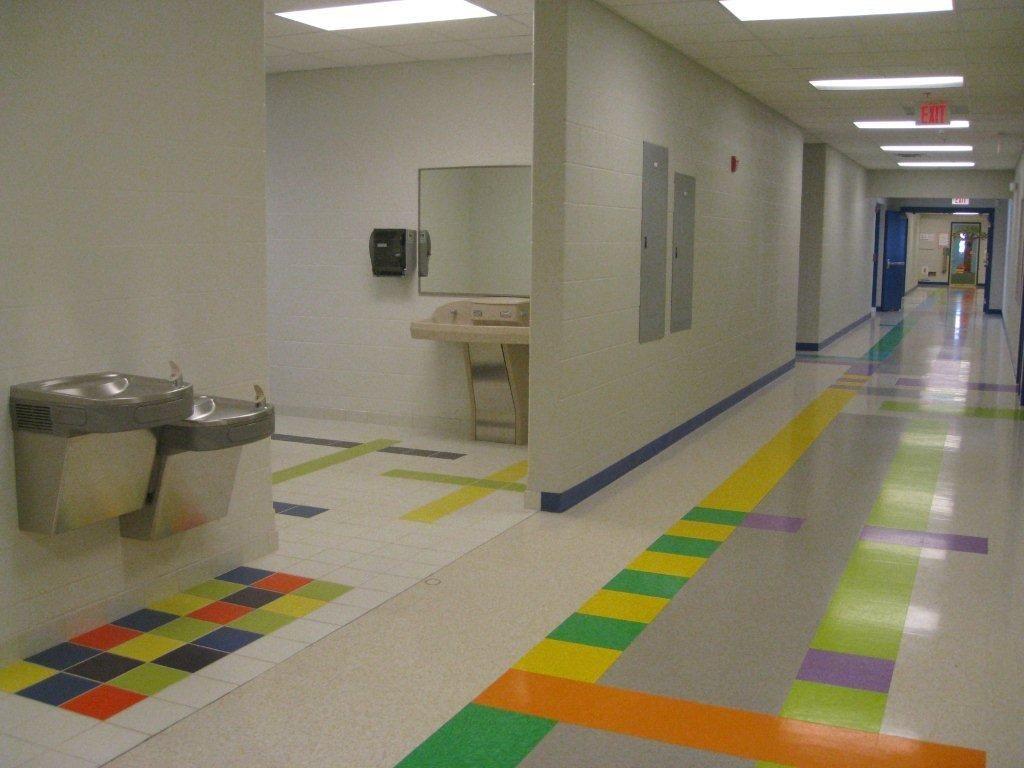 Creive Hall Elementary School Corridor And Toilet Entry