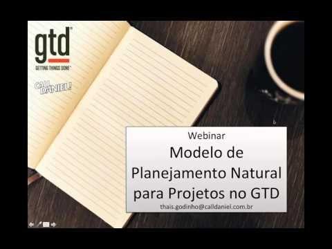 Webinar Modelo de Planejamento Natural para Projetos no GTD