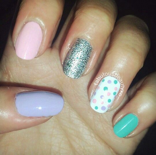 Pastel nails. Perfect for easter.