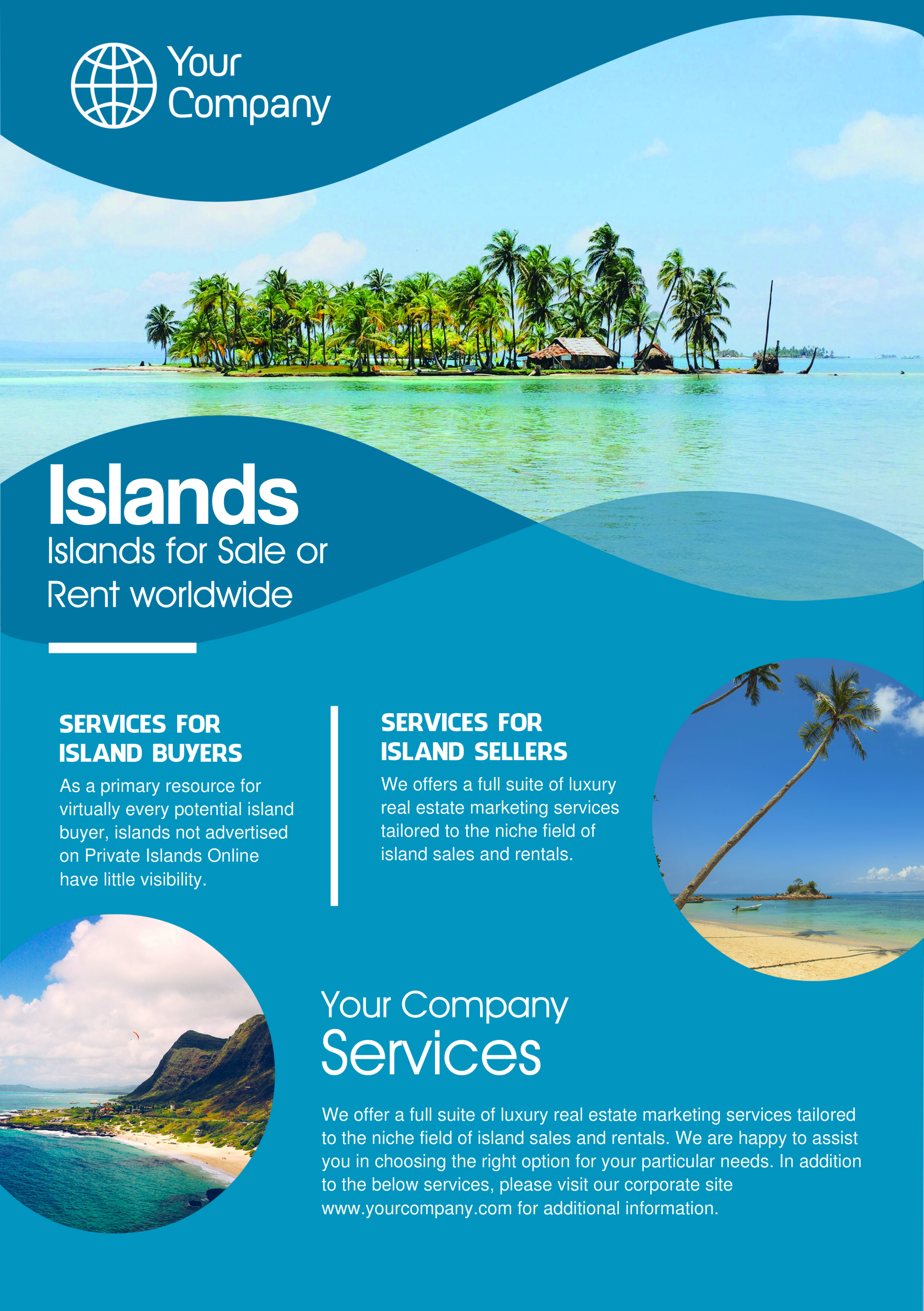 Caribbean A Promotional Flyer Httppremadevideoscomaflyer - Promotional brochure template